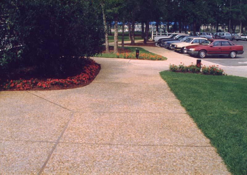 Kingston Plantation - Aggregate Sidewalks